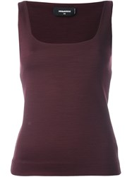 Dsquared2 Classic Tank Top Pink And Purple