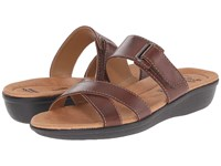 Clarks Manilla Pluma Brown Leather Women's Sandals