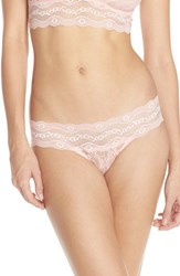 Women's B.Tempt'd By Wacoal 'Lace Kiss' Thong Crystal Rose