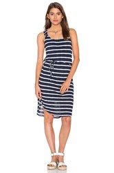 Splendid Huntington Stripe Rib Tank Dress Navy