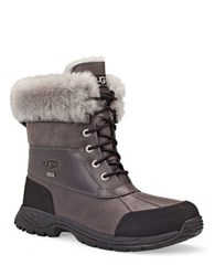 Ugg Mens Butte Sheepskin Leather Boots Metal