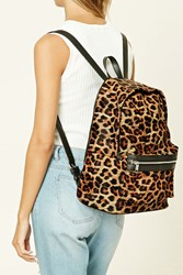 Forever 21 Leopard Zip Backpack