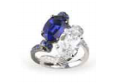 Fabio Salini Ring Assolo With Moonstone Gold And Diamonds Blue