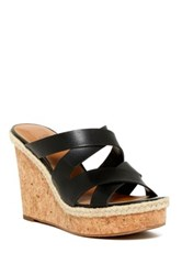 14Th And Union Reese Wedge Sandal Black