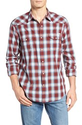 Lucky Brand Men's Santa Fe Jacquard Plaid Western Shirt