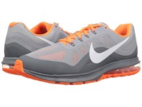 Nike Air Max Dynasty 2 Wolf Grey White Cool Grey Total Orange Men's Running Shoes Gray