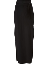 Ann Demeulemeester Side Slit Long Skirt Black