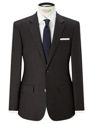 John Lewis Woven In Italy Milled Birdseye Tailored Suit Jacket Brown
