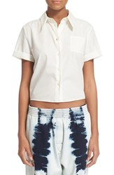 Maison Martin Margiela Women's Mm6 Maison Margiela Back Tie Crop Top