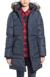 Women's Pajar 'Cougar' Down Parka With Genuine Coyote Fur And Genuine Rabbit Fur Navy