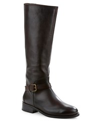 Cole Haan Sonna Leather Knee High Boots Brown