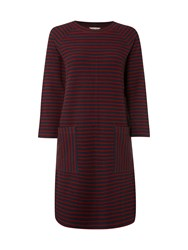 White Stuff Nordic Stripe Dress Blue