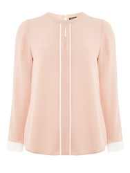 Dorothy Perkins Keyhole Contrast Top Blush