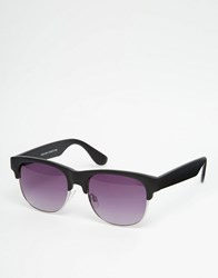 New Look Retro Sunglasses In Black Black
