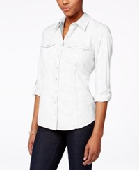 Styleandco. Style Co. Petite Utility Shirt Only At Macy's Bright White