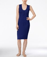 Rachel Rachel Roy Lace Up Knit Dress Iris