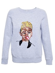 Ashish 'Miley Cyrus' Sequin Sweatshirt Grey