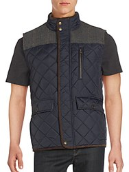 Vince Camuto Sleeveless Quilted Jacket Navy