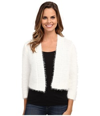 Rsvp Bre Fuzzy Shrug Ivory Women's Sweater White