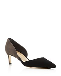 Via Spiga Ava D'orsay Pointed Toe Pumps Black Steel