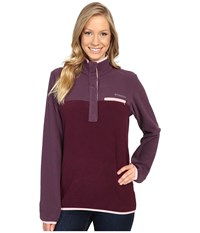 Columbia Mountain Side Pullover Dusty Purple Purple Dahlia Women's Long Sleeve Pullover Brown