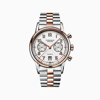 Tiffany And Co. Ct60 Chronograph 42 Mm Men's Watch In Rose Gold Stainless Steel. 18K Rose Gold Stainless Steel