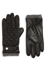 Polo Ralph Lauren Men's Quilted Leather Gloves Polo Black