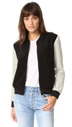 Cupcakes And Cashmere Tompkins Bomber Jacket Black