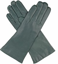 Dents Helene Cashmere Lined Leather Gloves Evergreen