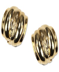 Jones New York Earrings Gold Tone Button Clip On Earrings