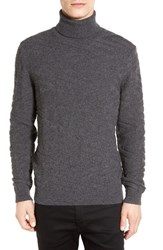 Boss Men's 'Bertuzzi' Wool And Cashmere Textured Turtleneck Sweater Grey