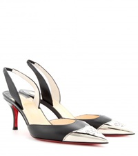 Christian Louboutin Calamijane 70 Leather Sling Back Pumps Black
