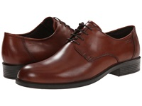Ecco Harold Plain Toe Tie Cognac Men's Plain Toe Shoes Tan