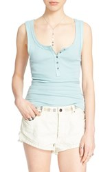 Women's Free People 'Time Out' Tank Mint