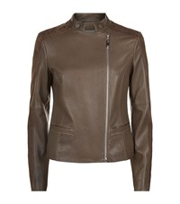 Escada Sport Suede And Leather Biker Jacket Female Brown