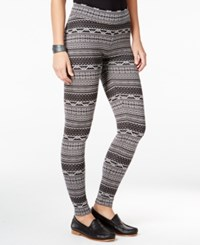 G.H. Bass And Co. Striped Skinny Leggings Grey Dusk Combo