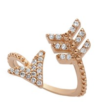 Bee Goddess Diamond Eros Arrow Midi Wrap Ring Female