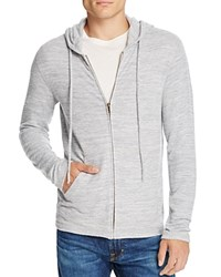 Velvet Loudon Cozy Heather Jersery Zip Hoodie Heather Grey