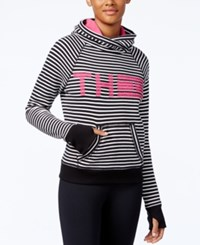 Tommy Hilfiger Striped Logo Sweatshirt A Macy's Exclusive Style Black
