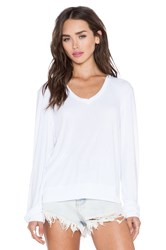 Wildfox Couture Essential Baggy Beach V Neck White