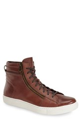 Andrew Marc New York Men's Andrew Marc 'Remsen' Sneaker Brown White Leather