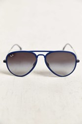 Ray Ban Light Ray Matte Blue Aviator Sunglasses
