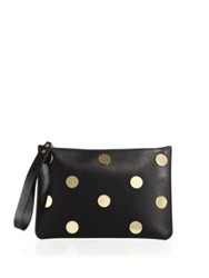 Sophie Hulme Talbot Embellished Leather Zip Pouch Black Gold
