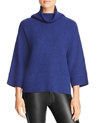 Magaschoni Ribbed Cashmere Turtleneck Sweater Rhine Mouline
