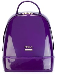 Furla Branded Backpack Pink And Purple
