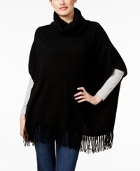Charter Club Cashmere Fringe Poncho Only At Macy's Classic Black