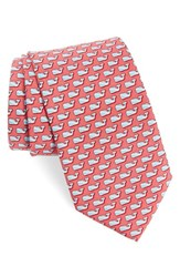 Vineyard Vines Men's Diver Whale Silk Tie Rasberry Rose
