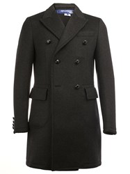 Junya Watanabe Comme Des Garcons Man Peaked Lapel Double Breasted Coat Black