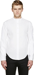 Hood By Air White Notched Sleeve Panel Shirt