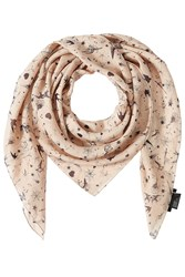 The Kooples Printed Silk Scarf Rose